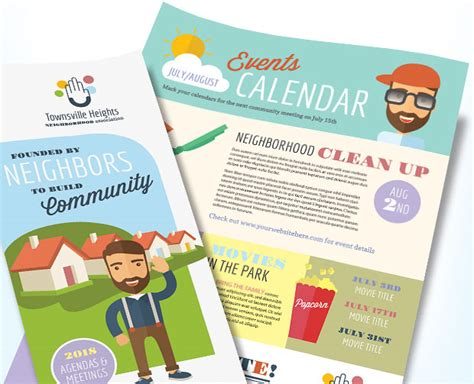 ngo newsletter templates home owners association 171 graphic design ideas