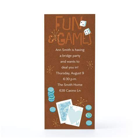 Brown Card Template by Invitation Card Template With Brown And