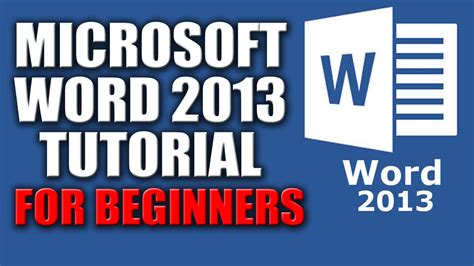 youtube tutorial office 2013 microsoft word 2013 tutorial for beginners lesson no 1