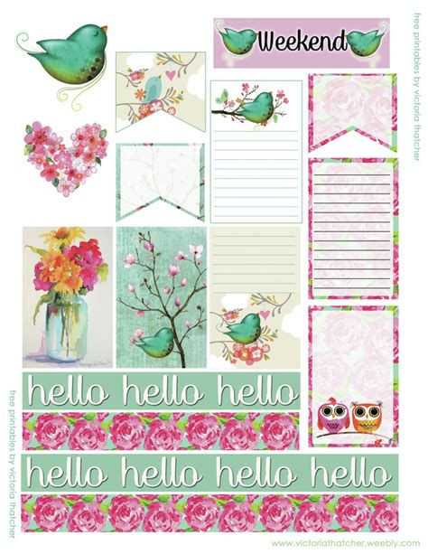 6 printable blog planners for 2016 simply sweet home hello green bird new planner printable victoria thatcher