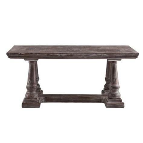Weathered Gray Coffee Table Southern Enterprises Clinton Weathered Gray Cocktail Table Hd130101 The Home Depot