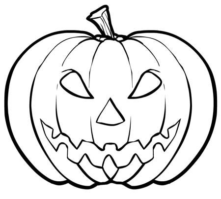 Spooky Pumpkin Coloring Pages | scary pumpkin pages kids hallowen pages of 10023