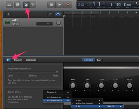 how to make garageband work with your ins even