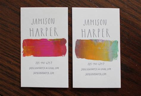 Business Card Ideas For Artists