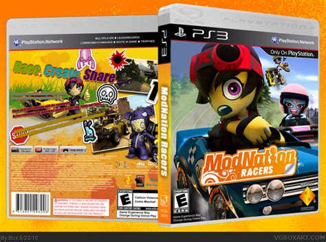 Cd Modnation Racers modnation racers playstation 3 box cover by box