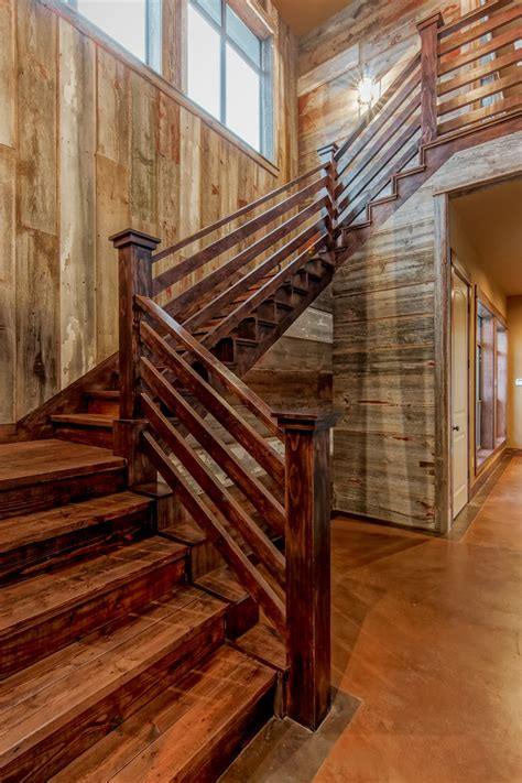 Superb Barrons Lumber Vogue Austin Rustic Staircase