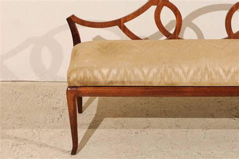 upholstered benches with backs italian vintage low back bench with upholstered seat at