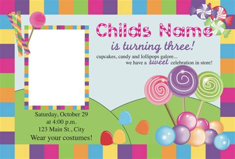candyland card template free printable candyland invitation blank template