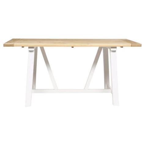 buy portobello trestle dining table white bleached pine