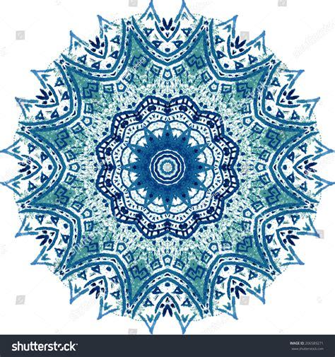 blue mandala pattern mandala vector pattern watercolor blue background stock