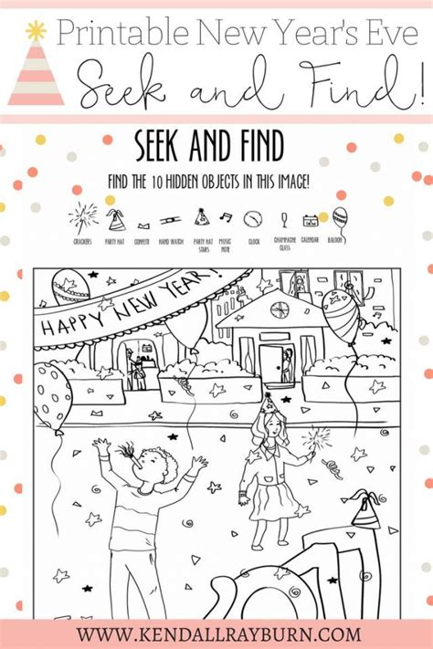 new year printable activities free 17 best images about new years crafts and activities