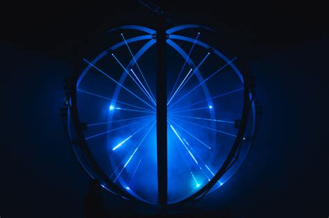 laser sphere light projector cycles 17 laser projectors visualise audio inside a sphere