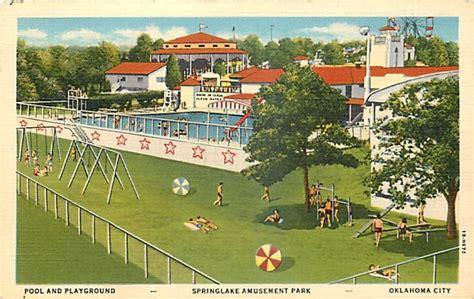park okc springlake amusement park oklahoma city historical postcards oklahoma city
