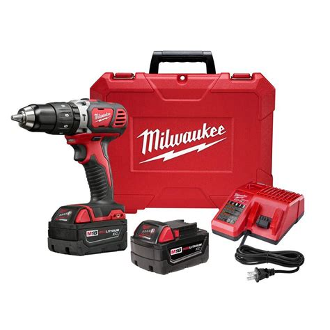 milwaukee m18 lithium ion 1 2 in cordless hammer drill