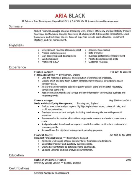 How To Make A Resume With No Job Experience by Best Finance Manager Resume Example Livecareer