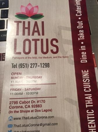 thai lotus restaurant menu restaurant front of thai lotus daytime picture of thai
