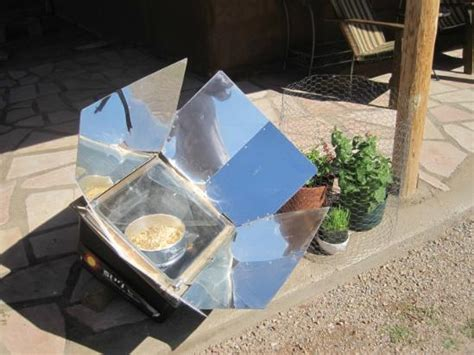Handmade Oven - solar oven home made granola baked by the sun