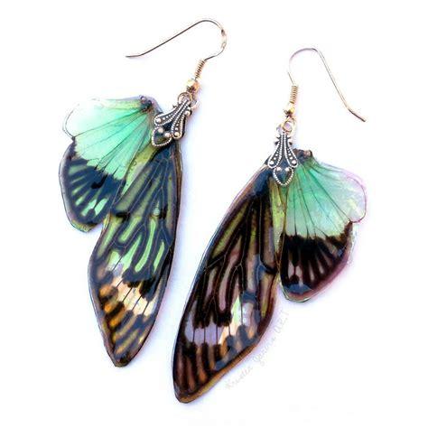 Wing Earrings opal wing earrings by kristenjarvisart on