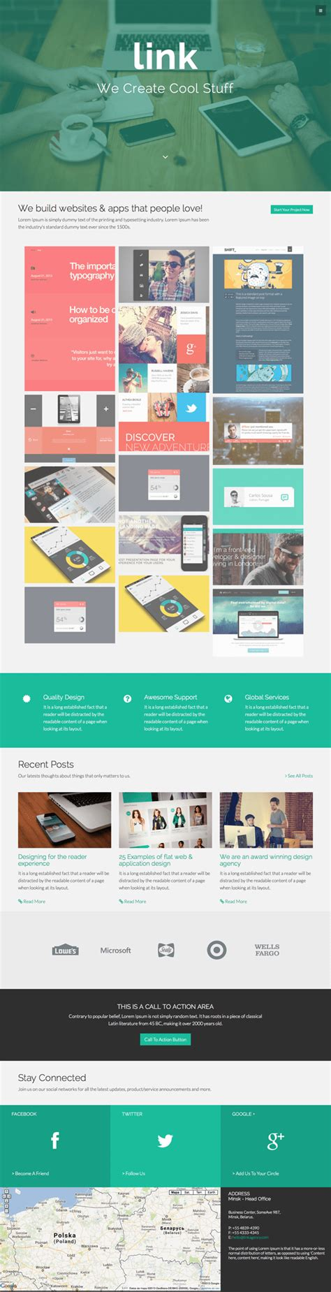 bootstrap themes tumblr link bootstrap 3 agency theme