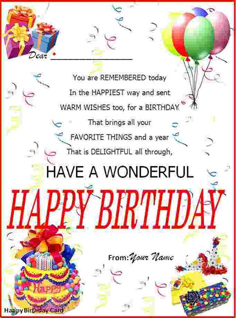 how to make a birthday card on microsoft word 2007 microsoft word birthday card template happy birthday card