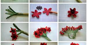 bits of paper ixora and geranium 3d paper flowers and a