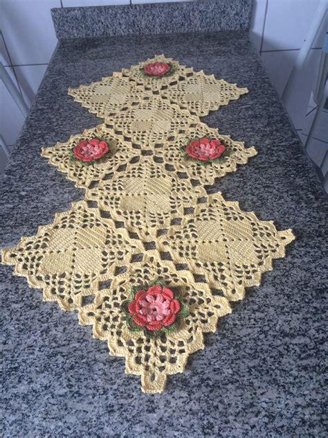 camino de mesa a crochet caminho de mesa em croche crochet table runner by arausi