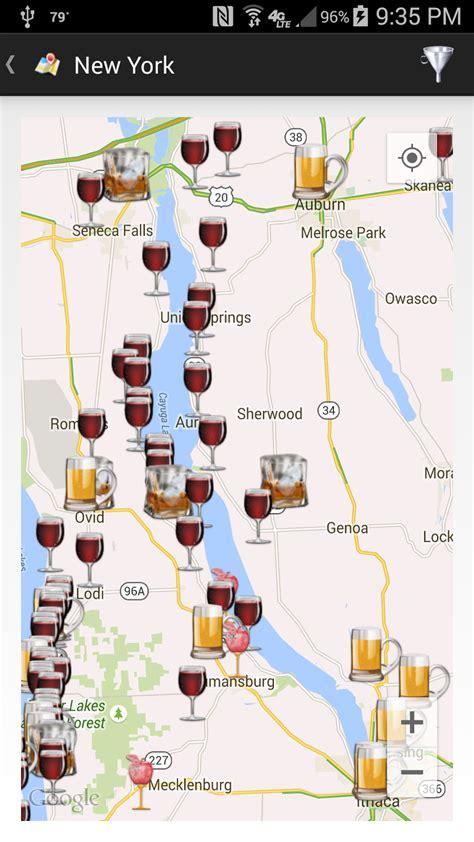 cayuga lake wine trail map winecompass to boat on the cayuga lake wine trail