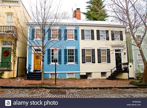 buying a house in washington dc typical georgetown row houses in washington dc stock photo royalty free image