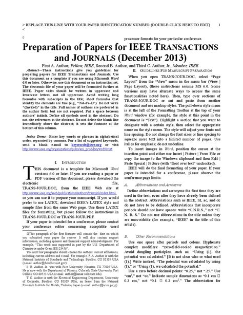 Ieee Paper Template Docx