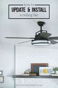 How To Fit A Ceiling Fan How To Update Install A Ceiling Fan