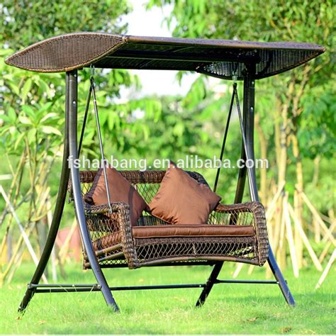 garden swing price outdoor patio balcony backyard plastic synthetic rattan