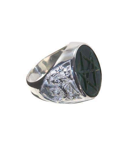jade hexagram heraldic ring