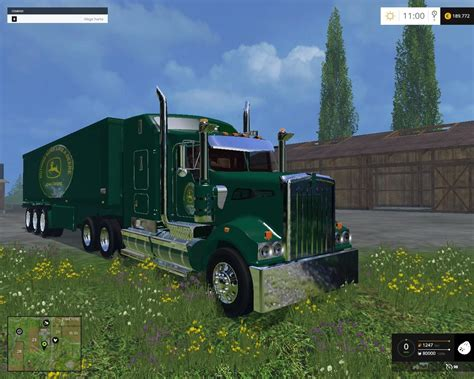 kenworth truck and trailer kenworth deere edition truck and trailer v2 0 fs15