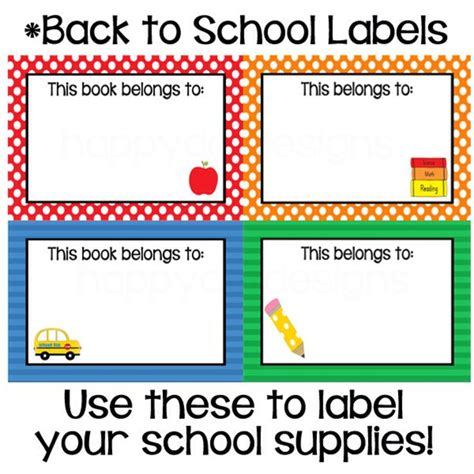 printable calendar labels for classroom printable classroom back to school labels bus apple and