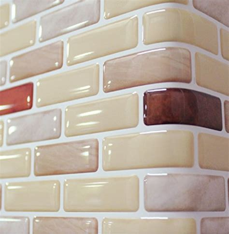 unidesign beaustile brown brick mosaic  wall stickers