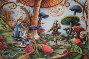 Alice In Wonderland Wall Murals on pinterest tea parties alice in wonderland decorations and shabby