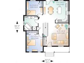 One Story Two Bedroom House Plans by Small One Story House Simple One Story House Plan 1 Story