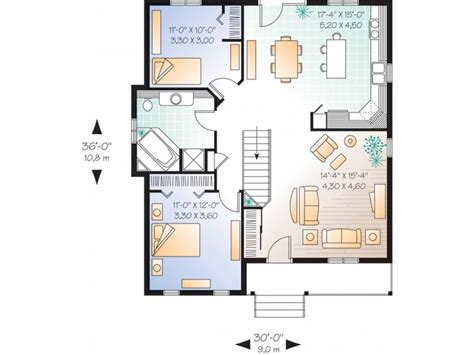 2 Bedroom Country House Plans Eplans Country House Plan Simple One Story Bungalow 1026 Square And 2 Bedrooms From
