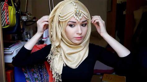 tutorial hijab youtube hijab tutorial l eid youtube