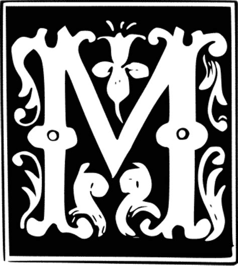 Decorative Artists by Decorative Letter M Signs Symbol Alphabets Numbers