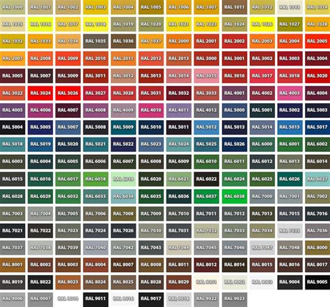 the 25 best ral color chart ideas on names for houses color names and names of colors