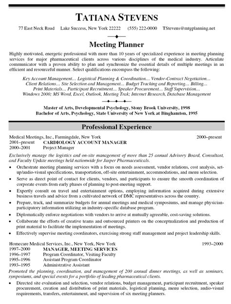 Resume Sle Of An Account Executive resume sle of accounts executive 28 images accounting