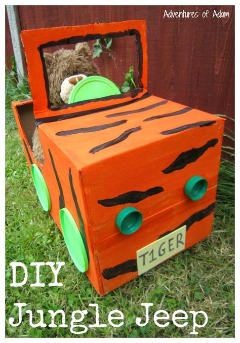 safari jeep craft diy tiger jungle jeep