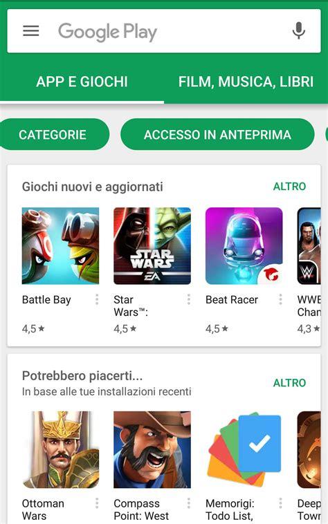 play store accesso in anteprima app inedite soluzione