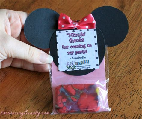 Minnie Mouse Birthday Giveaways - minnie mouse homemade party favors www pixshark com images galleries with a bite