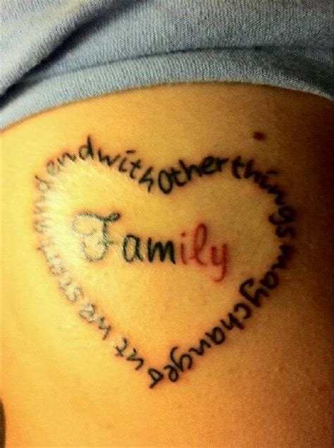 heartbeat ending tattoo other things may change but we start and end with family