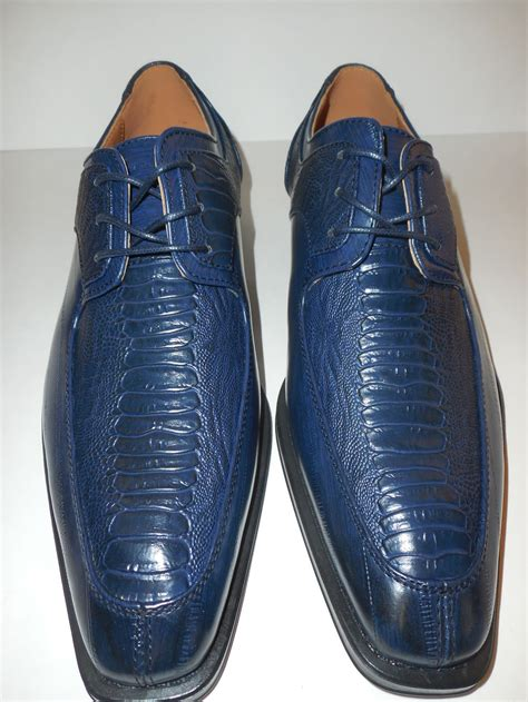mens navy blue timeless and classic oxfords dress shoes
