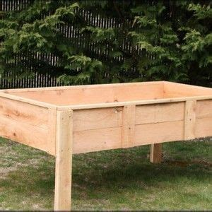 diy elevated garden bed  legs landscaping ideas