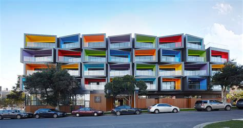 design box hill this new apartment building is a jumble of colorful