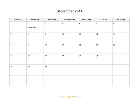 printable calendar 2014 september september 2014 calendar blank printable calendar